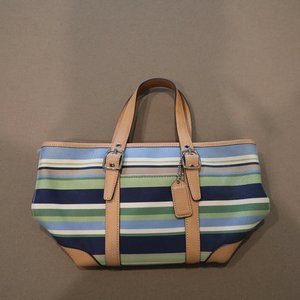 Coach Blue and Green Small Purse - Lightly used